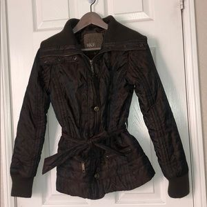 BUCKLE Brown Fashion Jacket with Bronze Detail Med